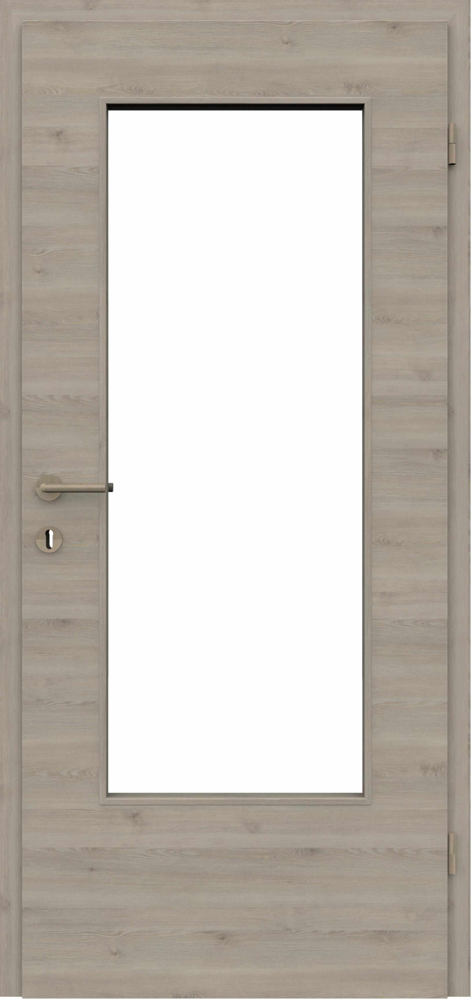Zimmertür Cpl Pinie Silber Quer Mit Lichtausschnitt La3 Inkl Zarge